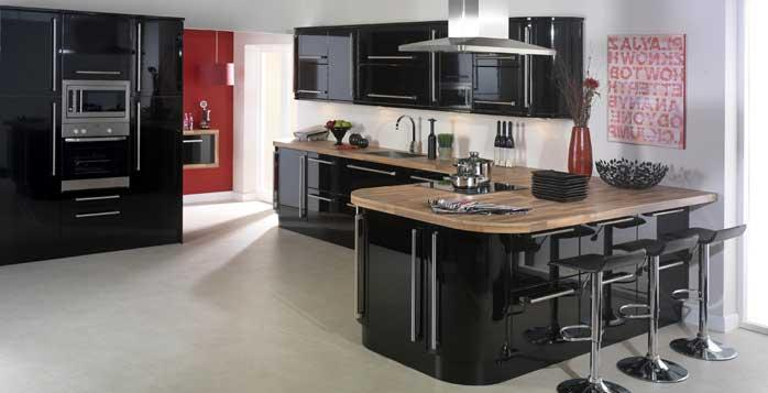 KitchenBlackGloss1